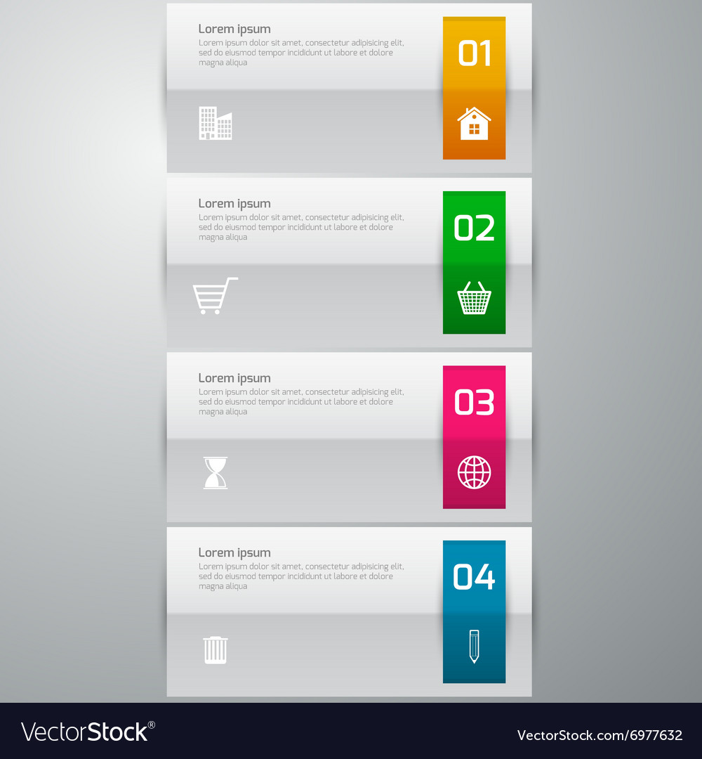 Infographics 4 options vector