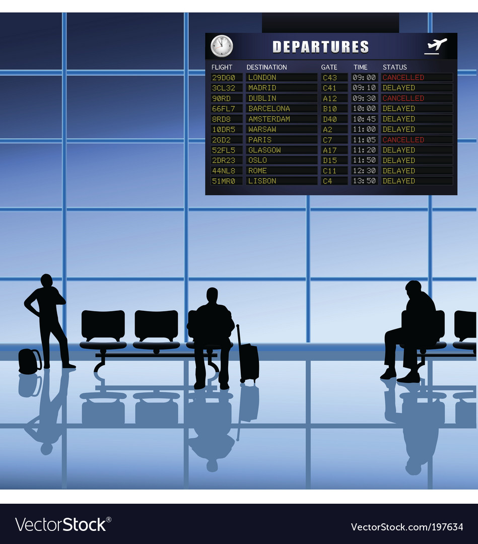 Airport set passengers vector
