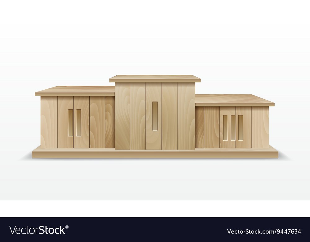 Wooden winners podium vector