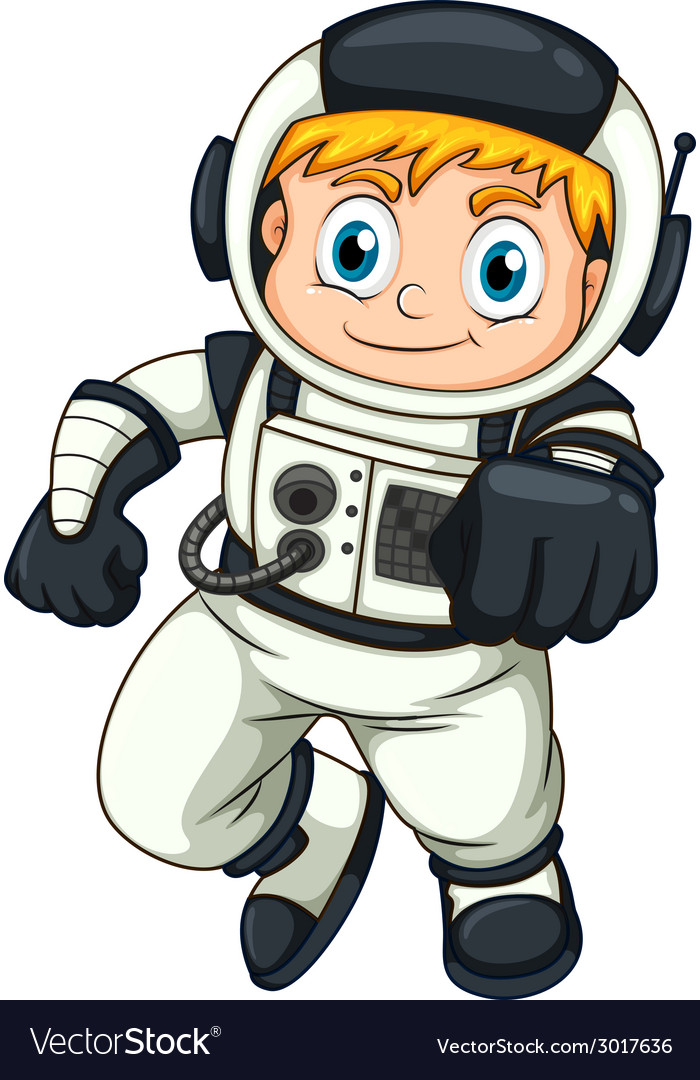 A male astronaut vector