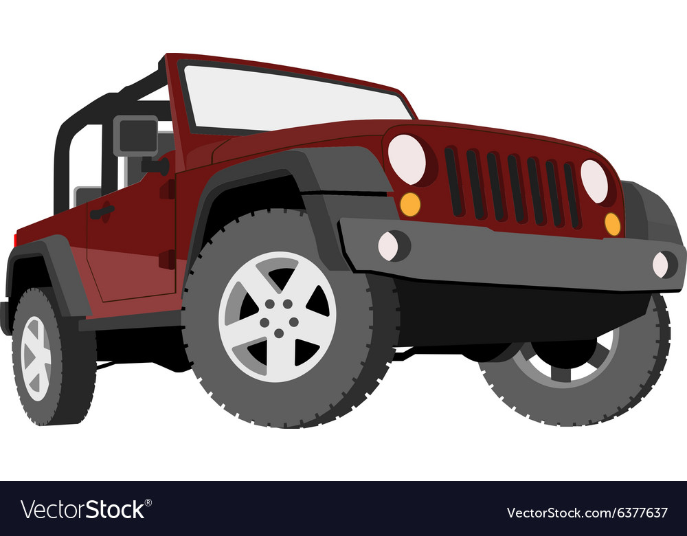 Convertible car offroad jeep suv vector