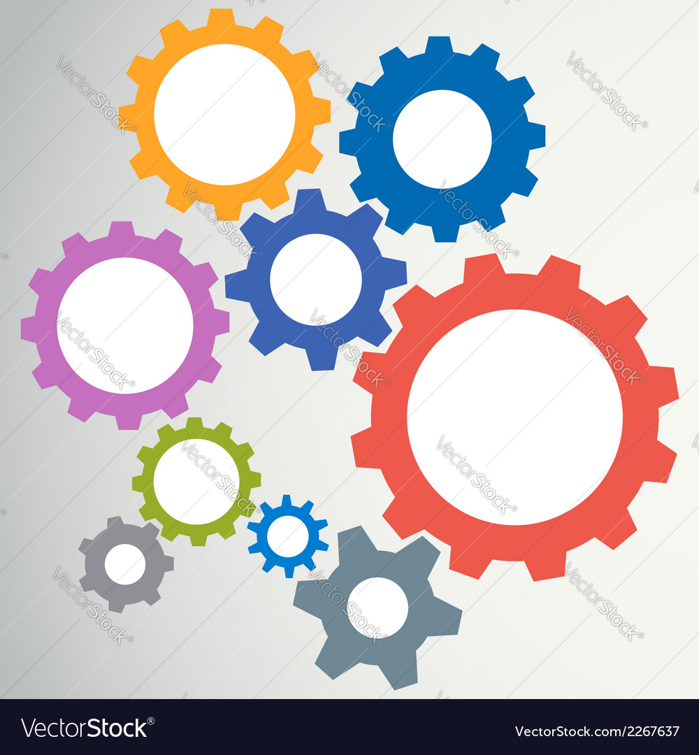 Gear modeling abstract background vector