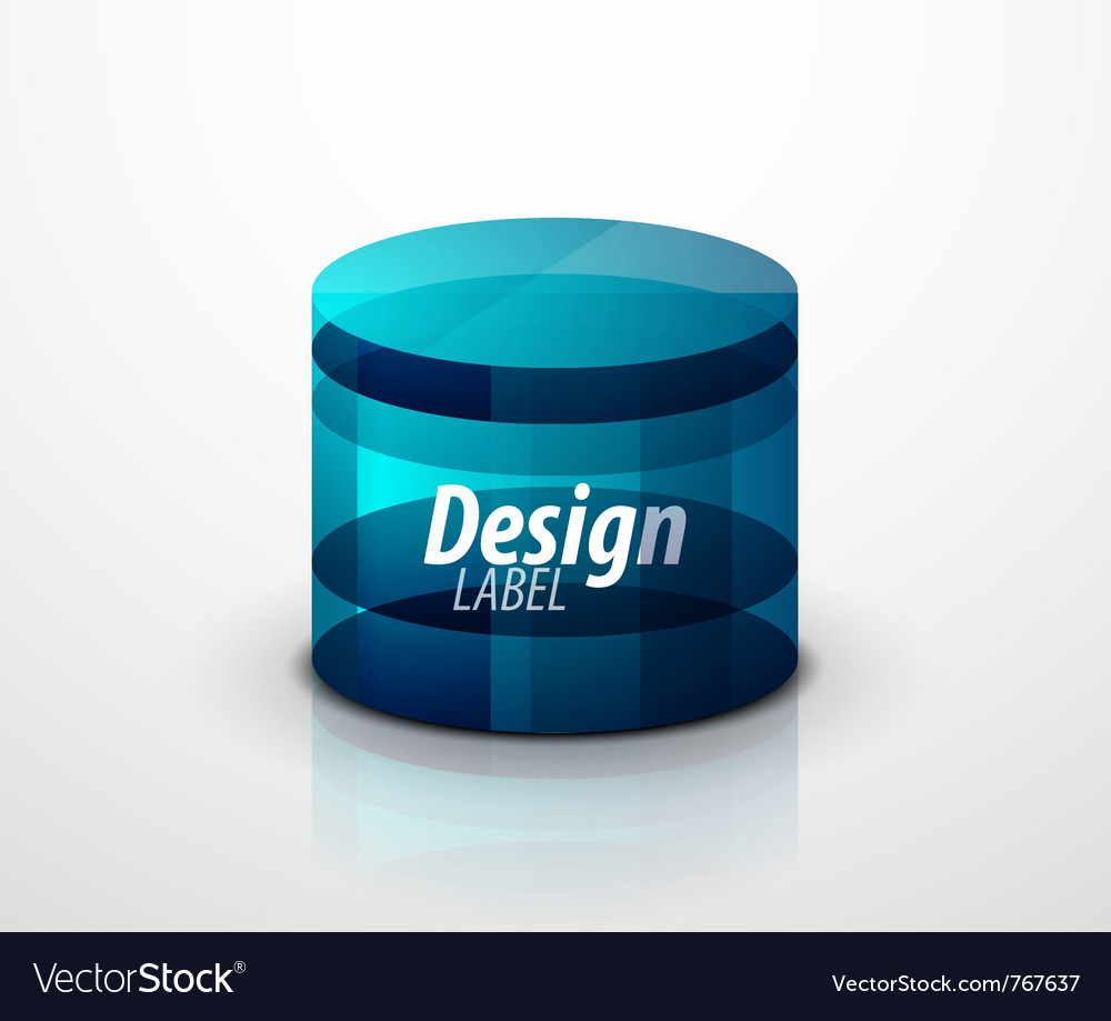 Glass cylinder vector
