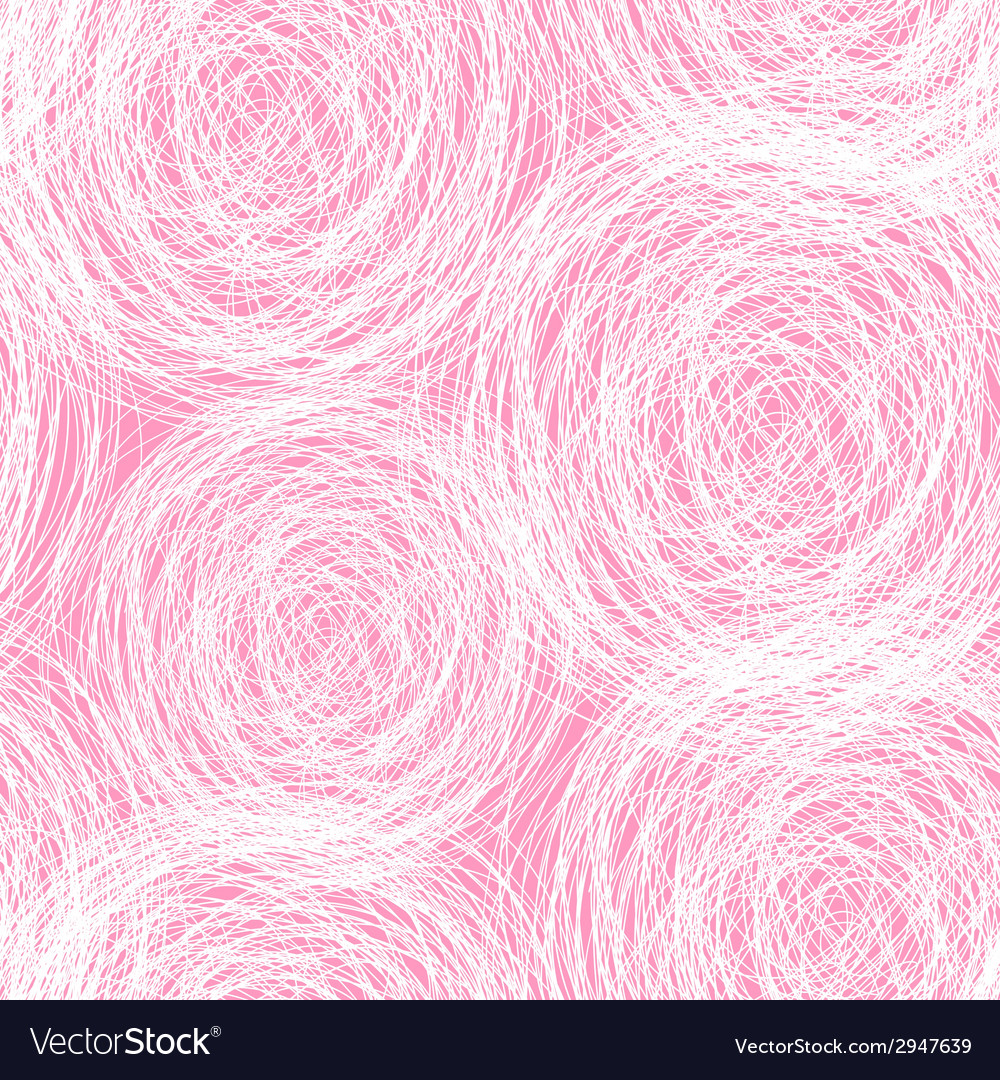 Pink  white scribble seamless pattern vector