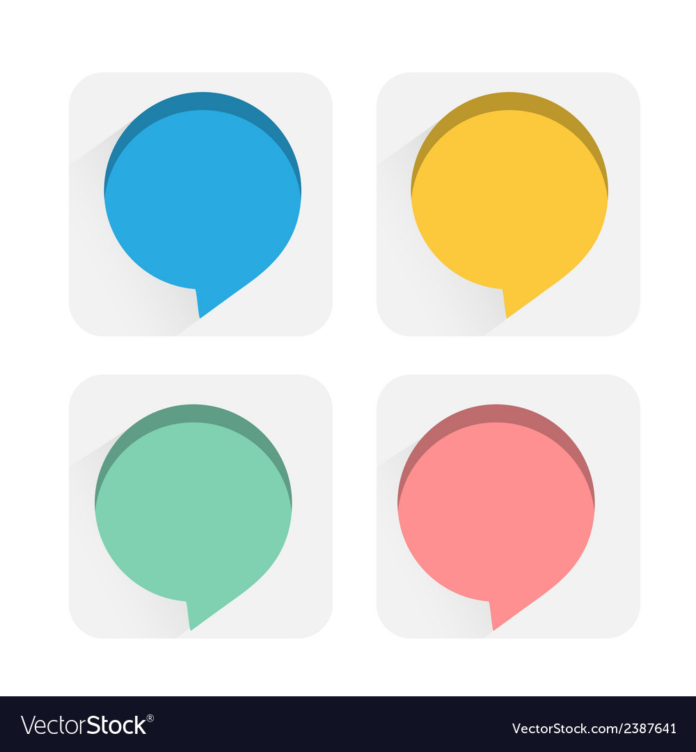 Speech bubbles flat icons vector
