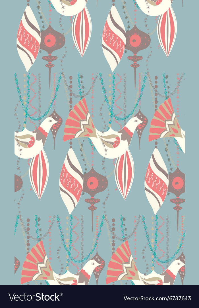 Christmas ornament pattern vector