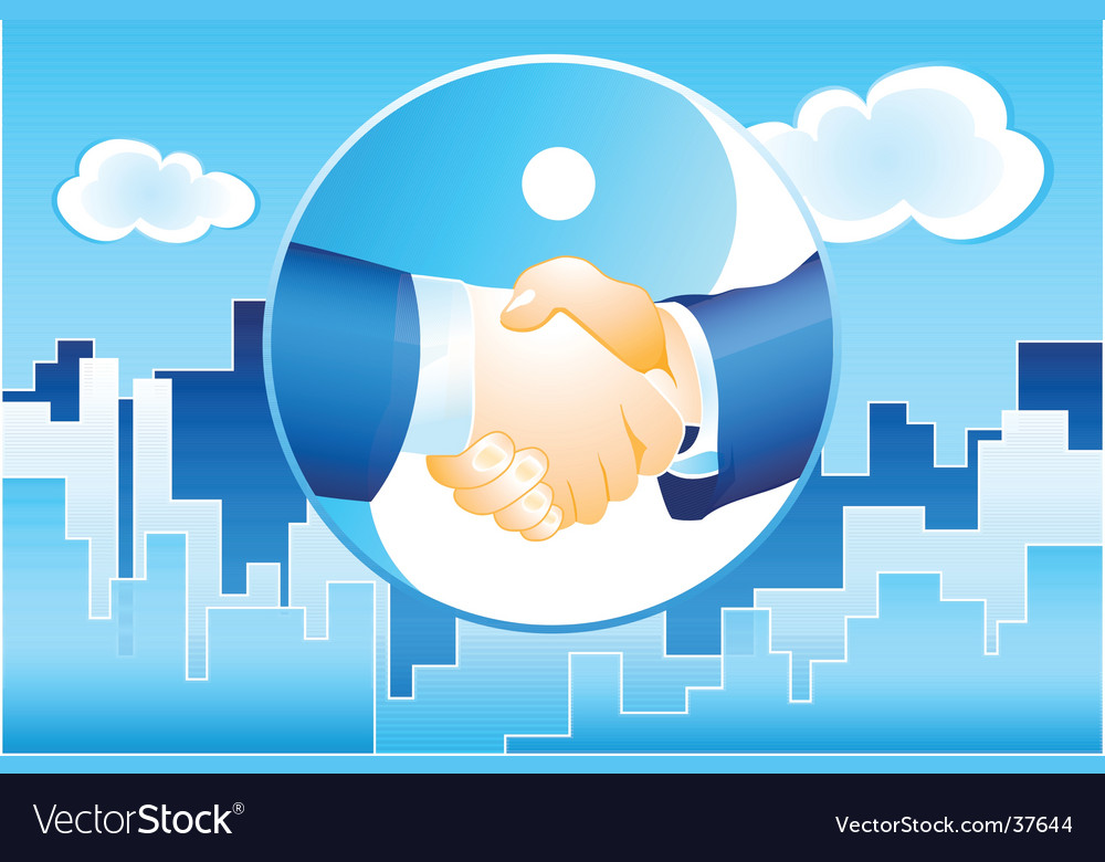 Business deal background vector