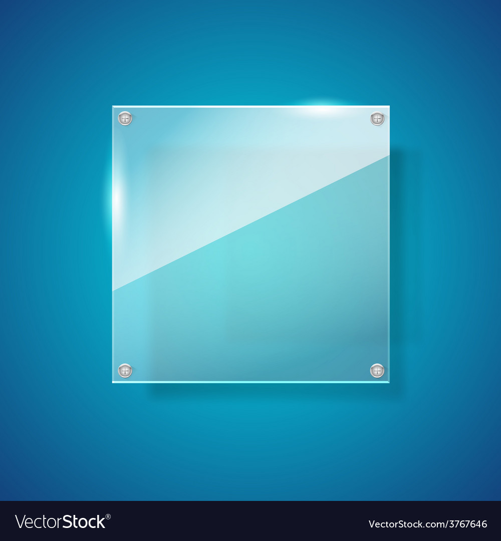 Abstract gross shiny glass on blue background vector