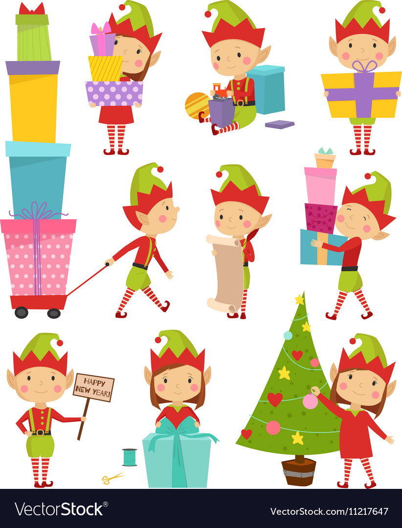 Elf helpers vector