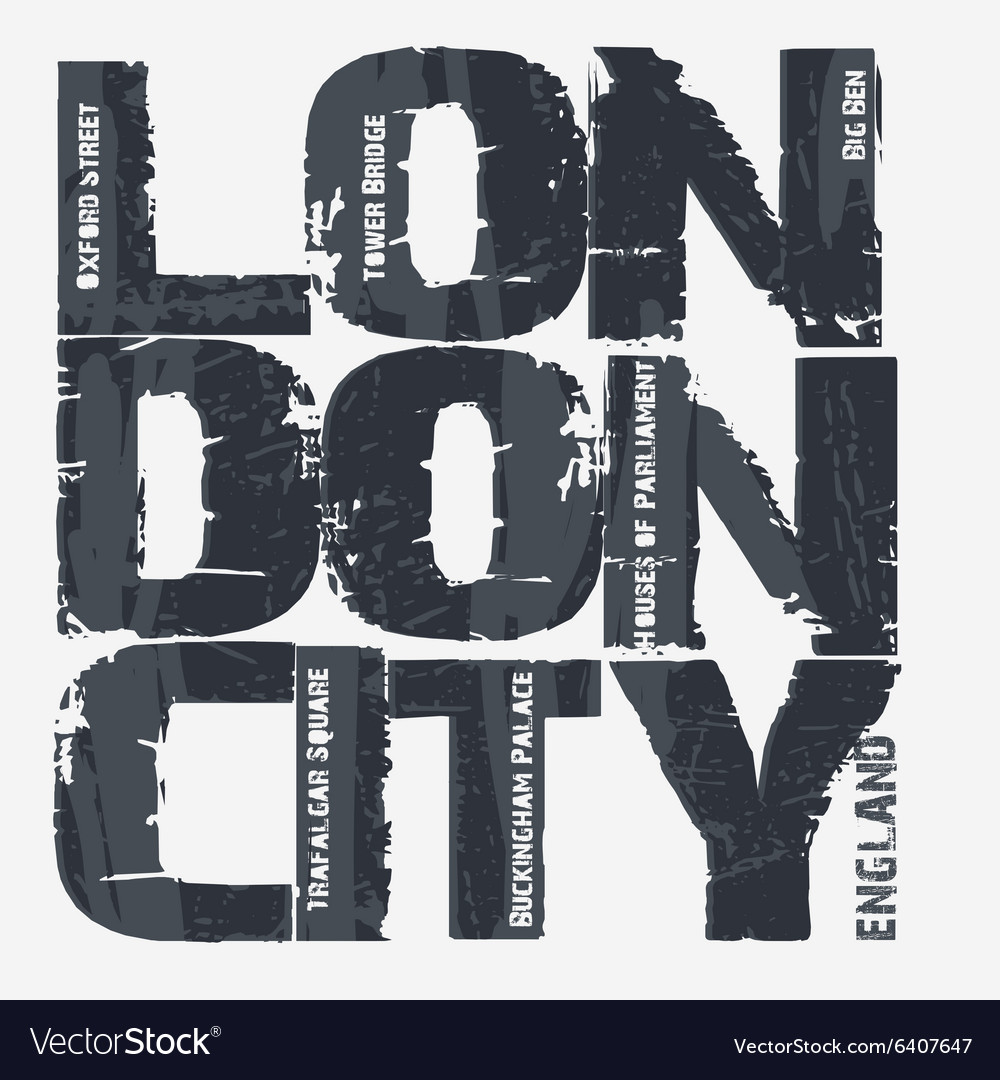 London city typography design vector