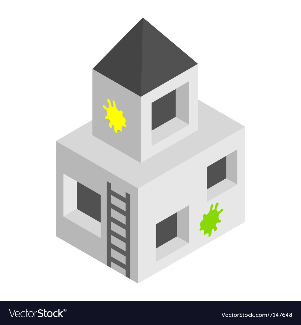 Strengthening paintball isometric 3d icon vector