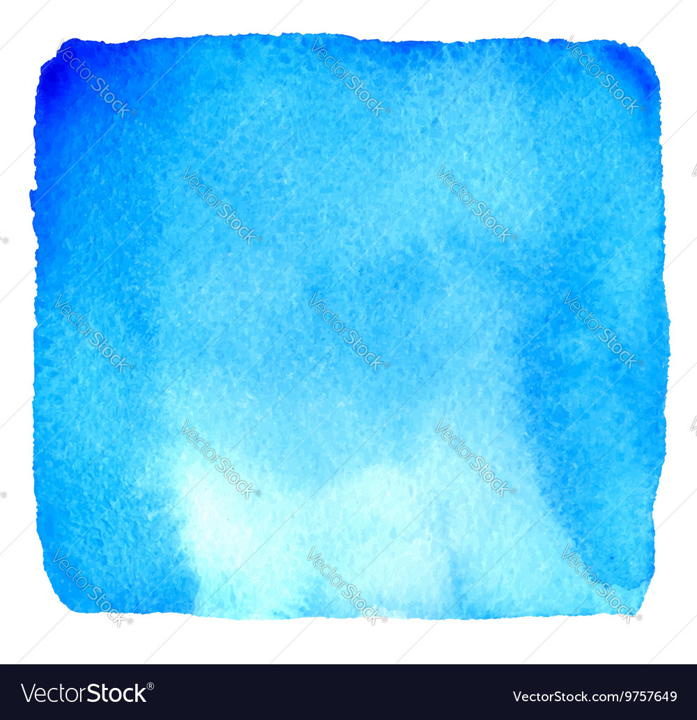 Light blue watercolor hand drawn banner vector