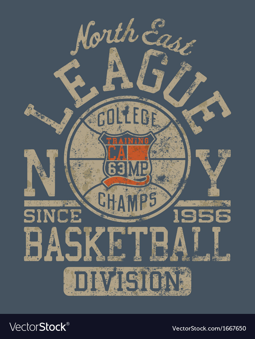 Basketball college league vector