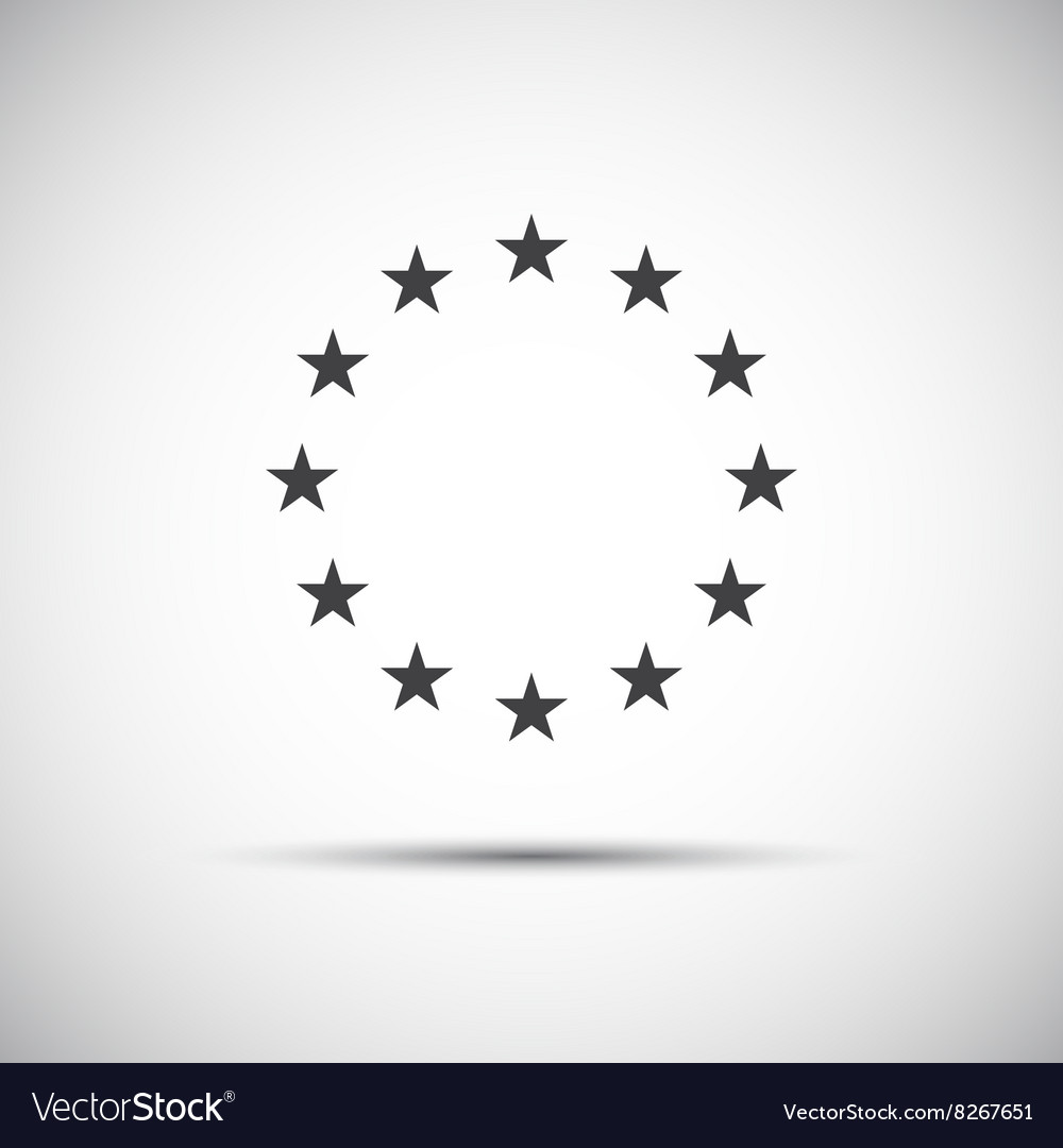 Stars of the european union simple icons vector