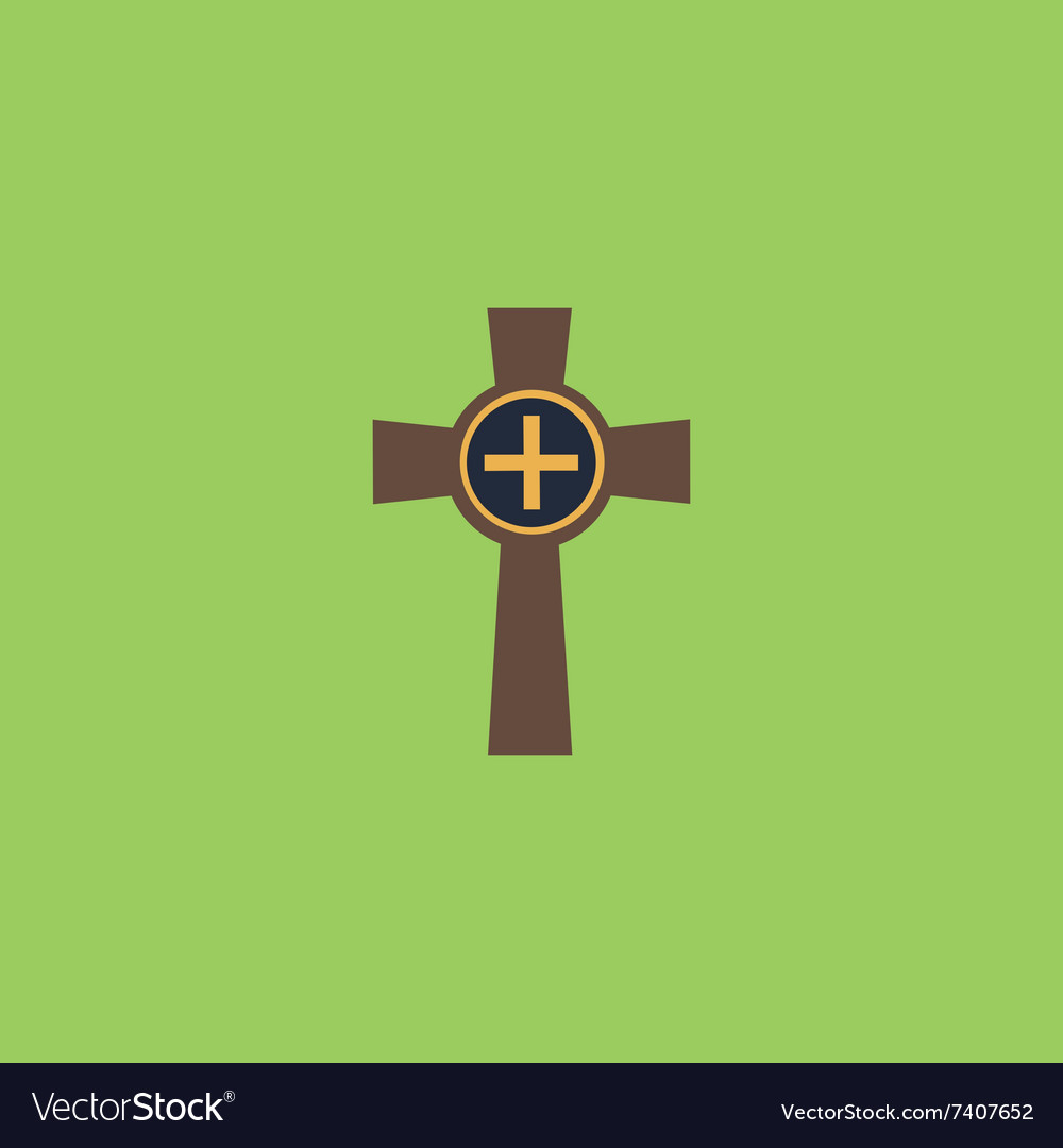 Tombstone  cross gravestone icon vector