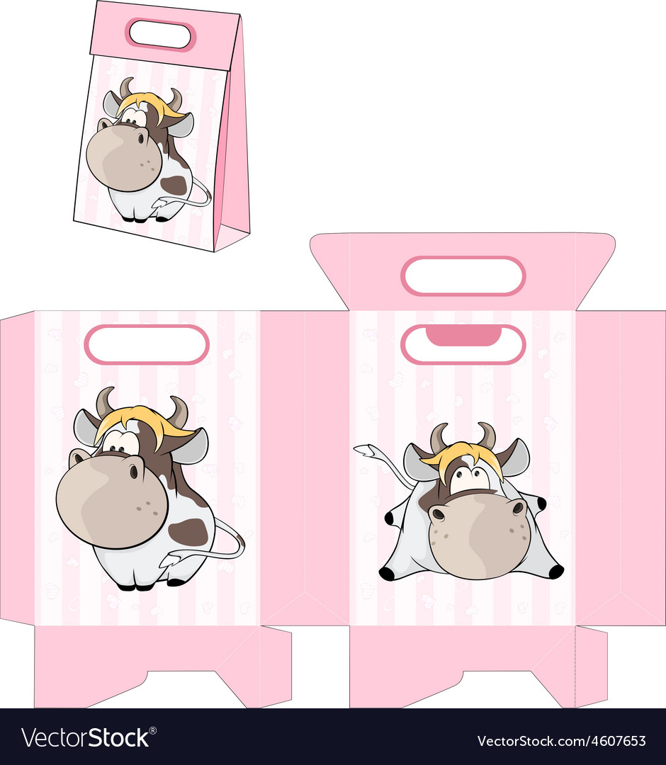 A small cow handbag packages pattern vector