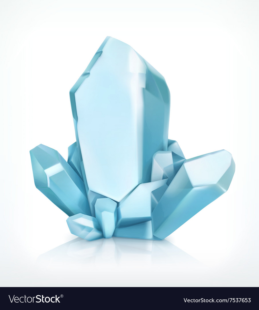 Blue crystal icon vector
