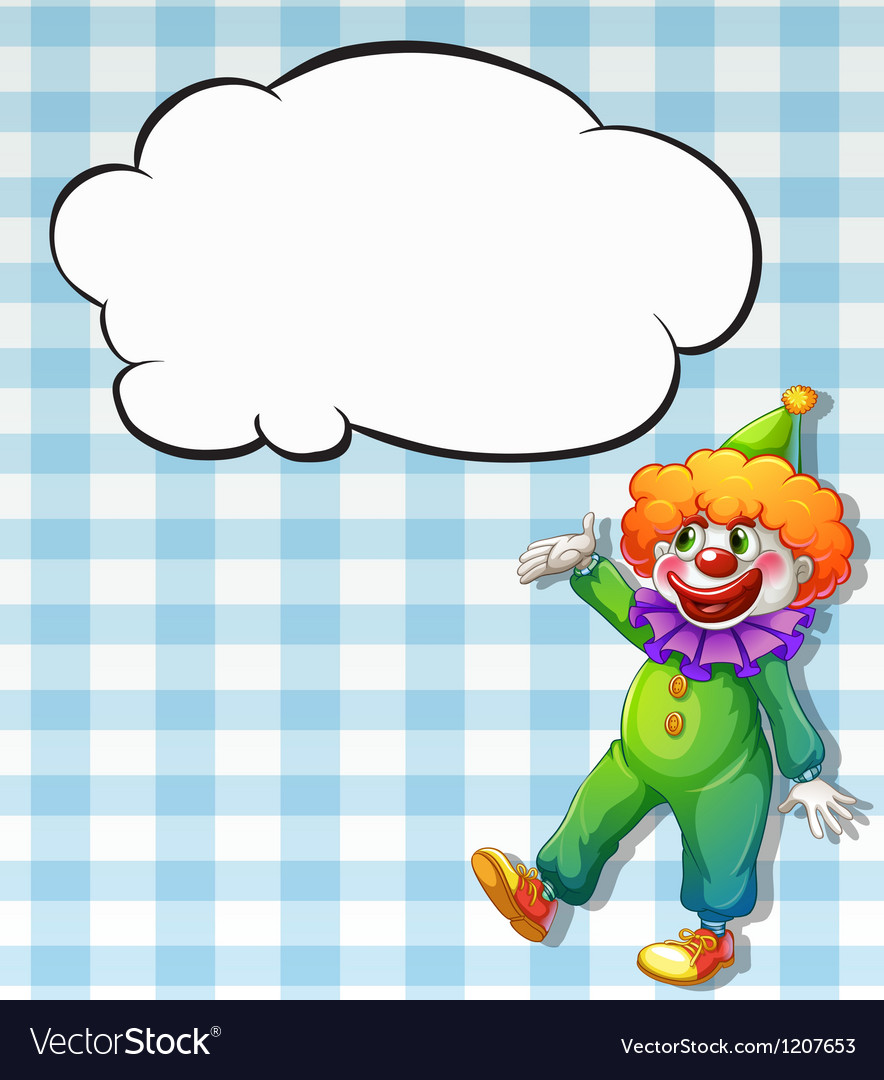 Clown bubble vector