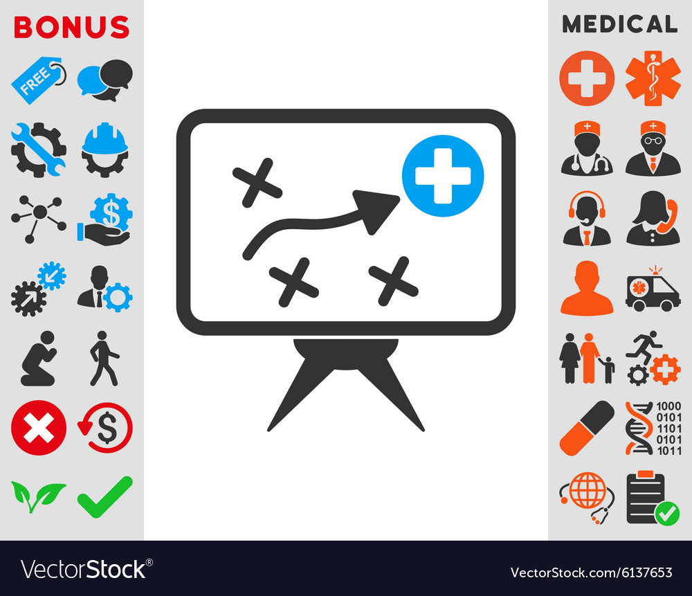 Health strategy icon vector