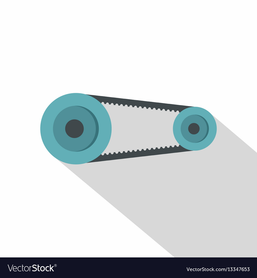 Mechanic belt icon flat style vector