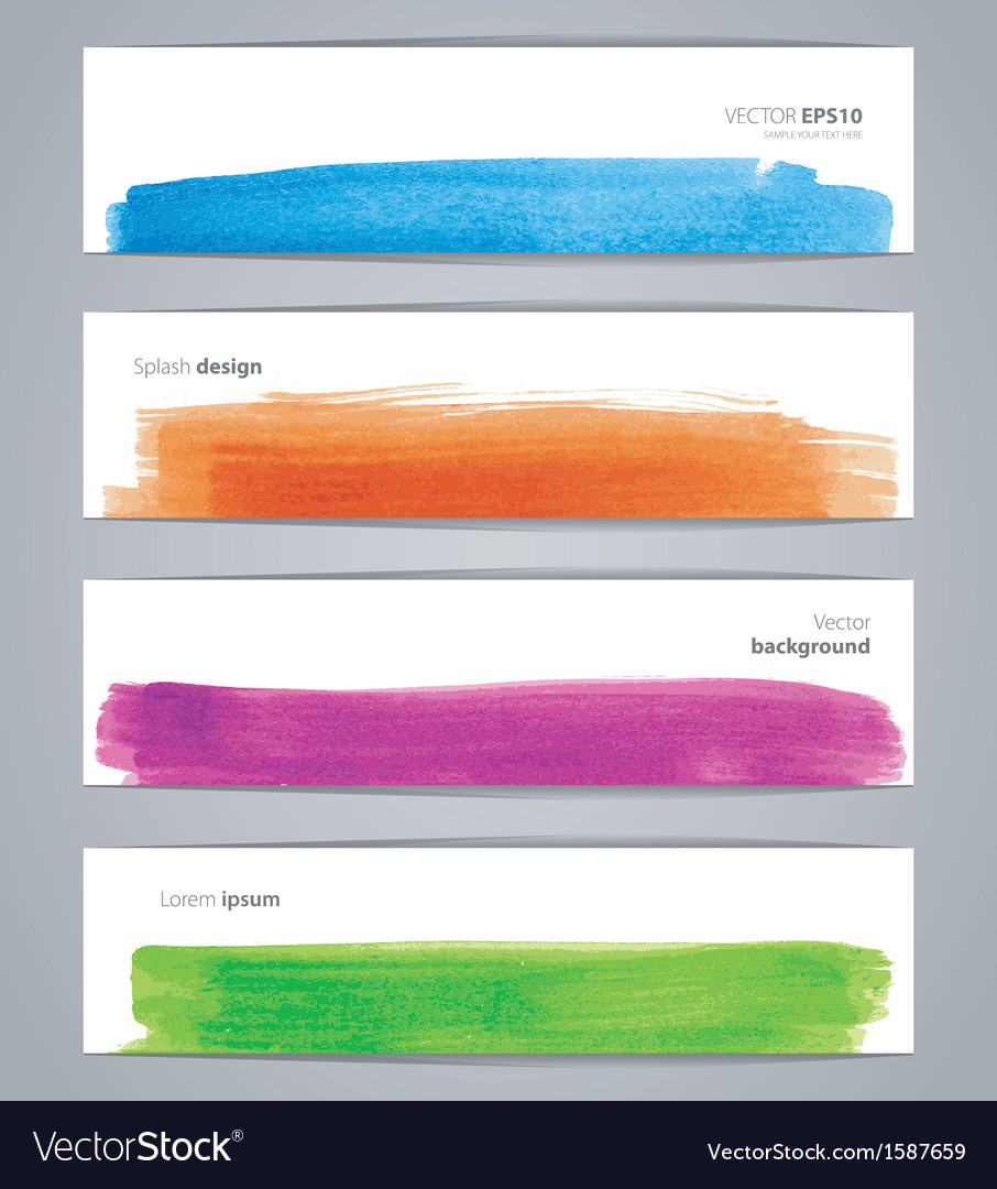 Watercolor design banners vector