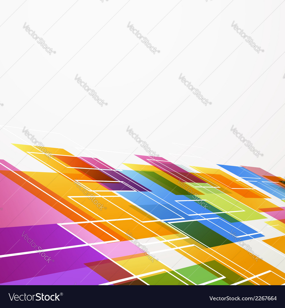 Bright colorful abstract tile background vector