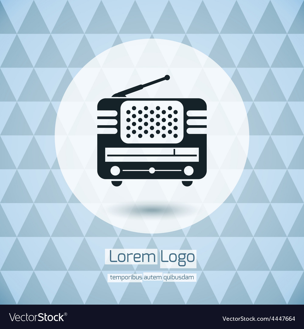 Radio icon logo vector