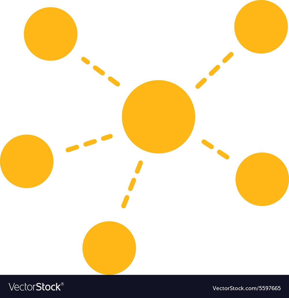 Connections icon from business bicolor set vector