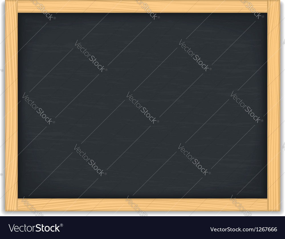 Black chalkboard vector