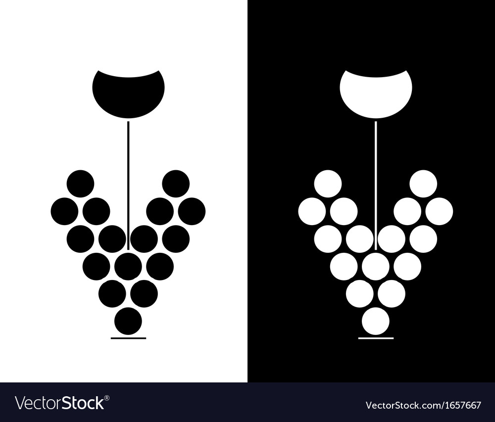 Wine sign vector