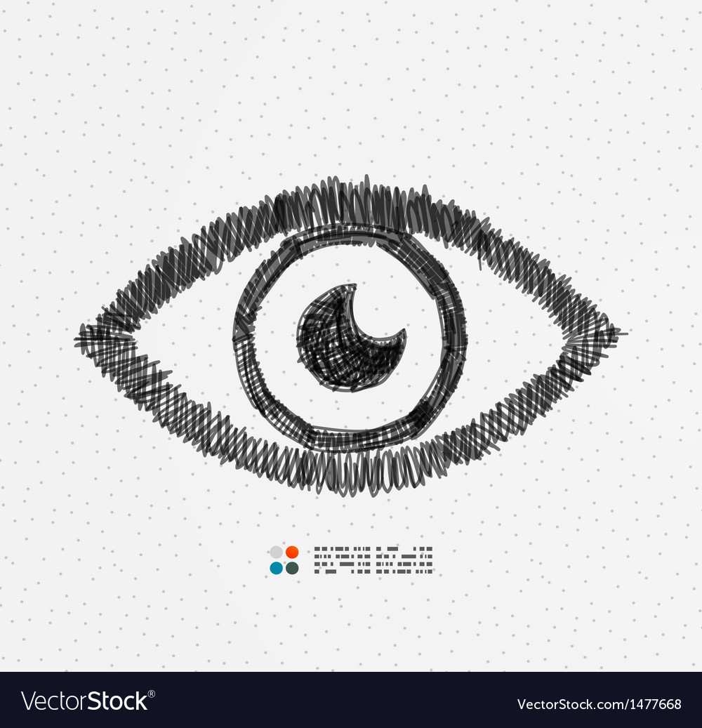Hand drawn eye vector