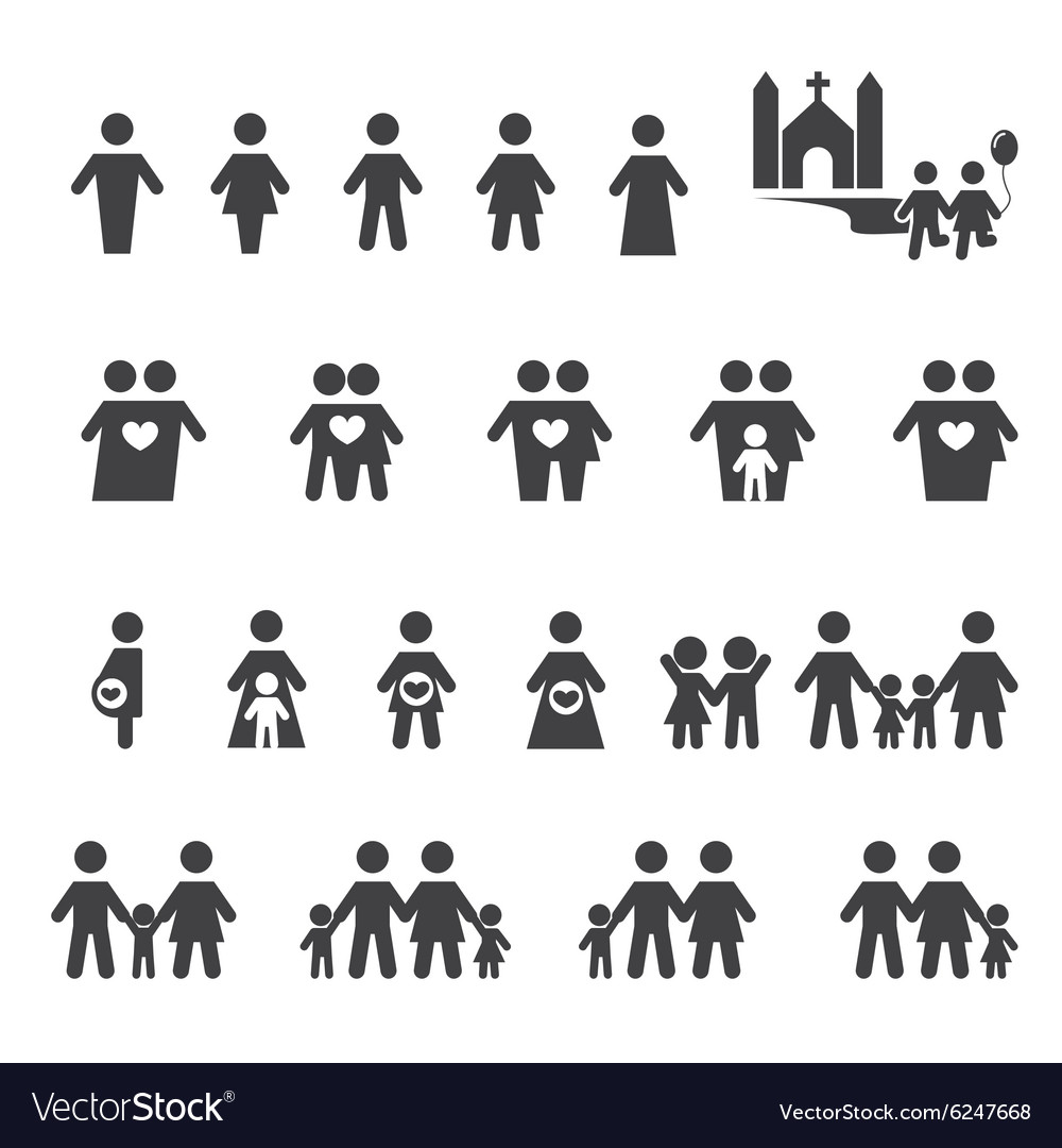 People and family icon vector