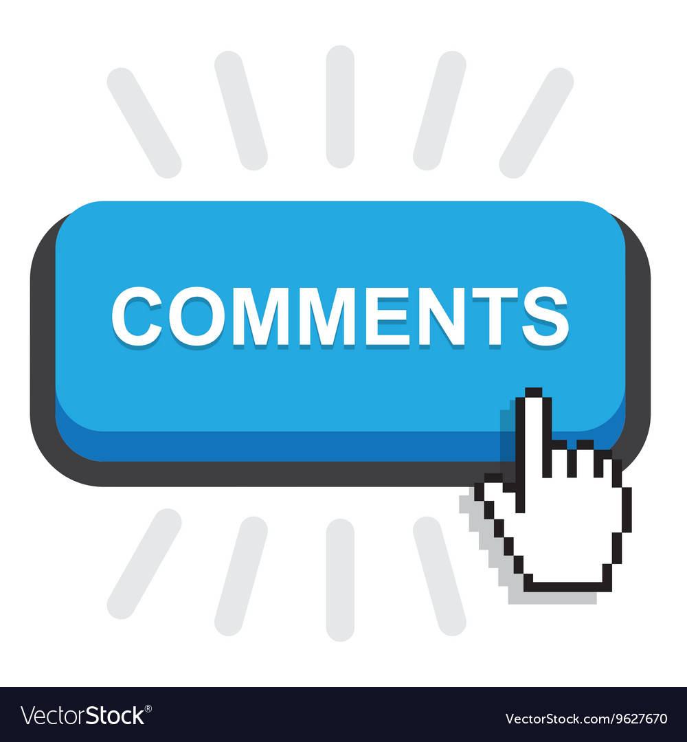 Blue comment button vector
