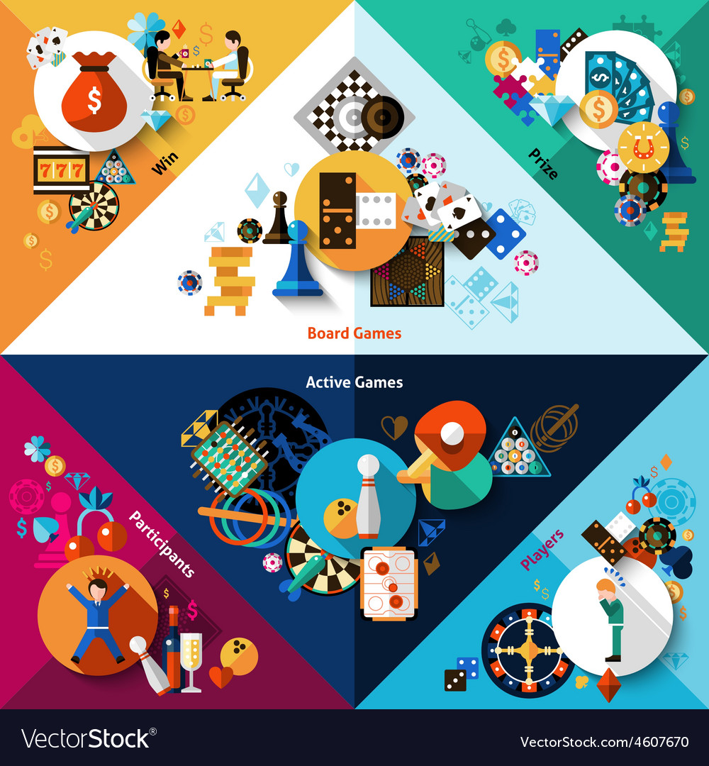 Games corners set vector
