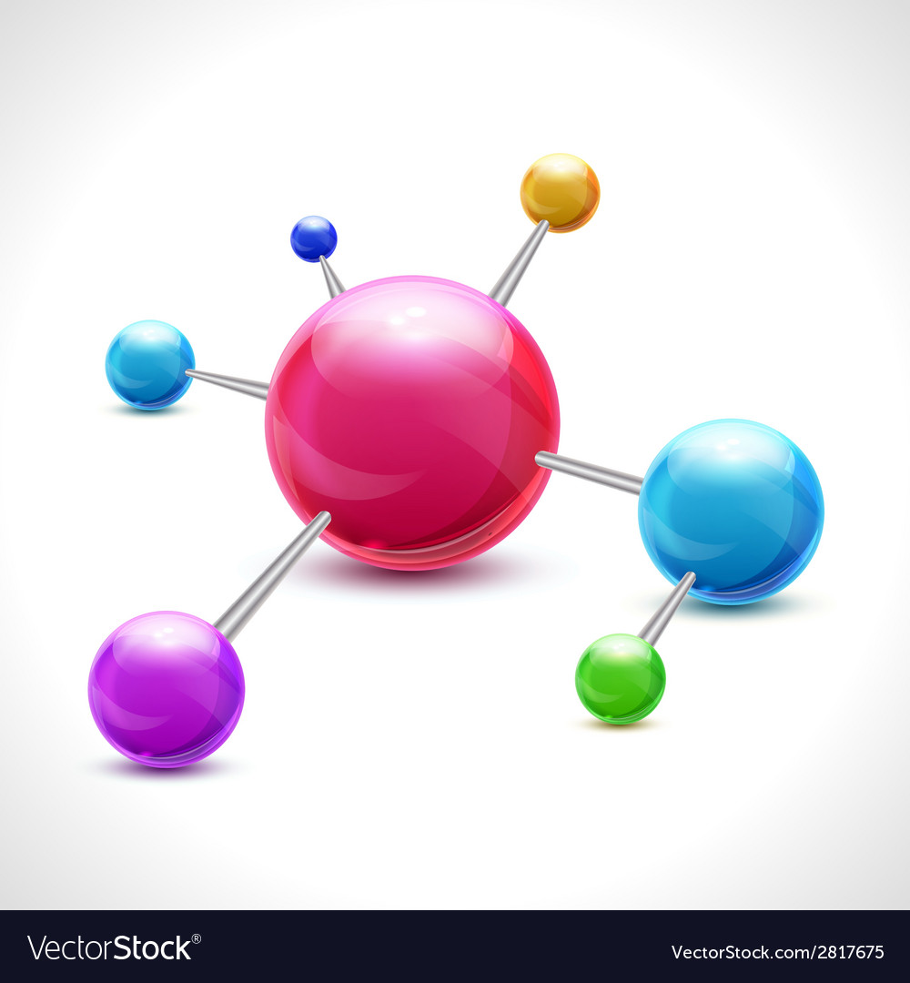 Abstract molecule 3d vector