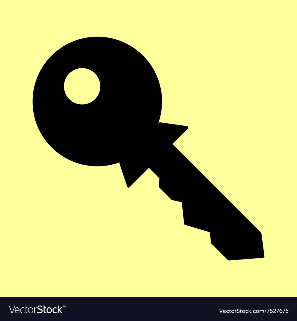 Key sign flat style icon vector