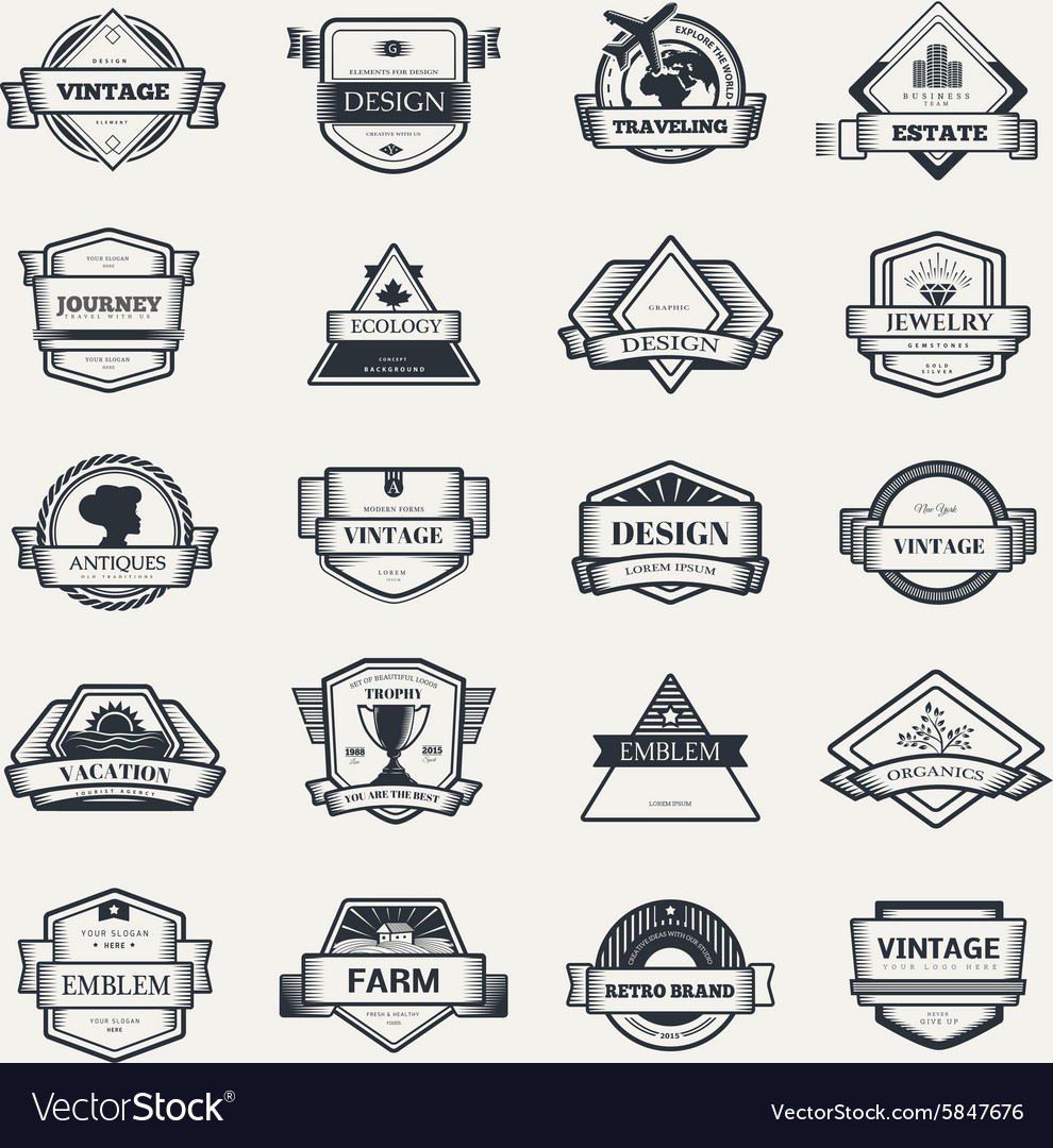 Design logo elements template vector
