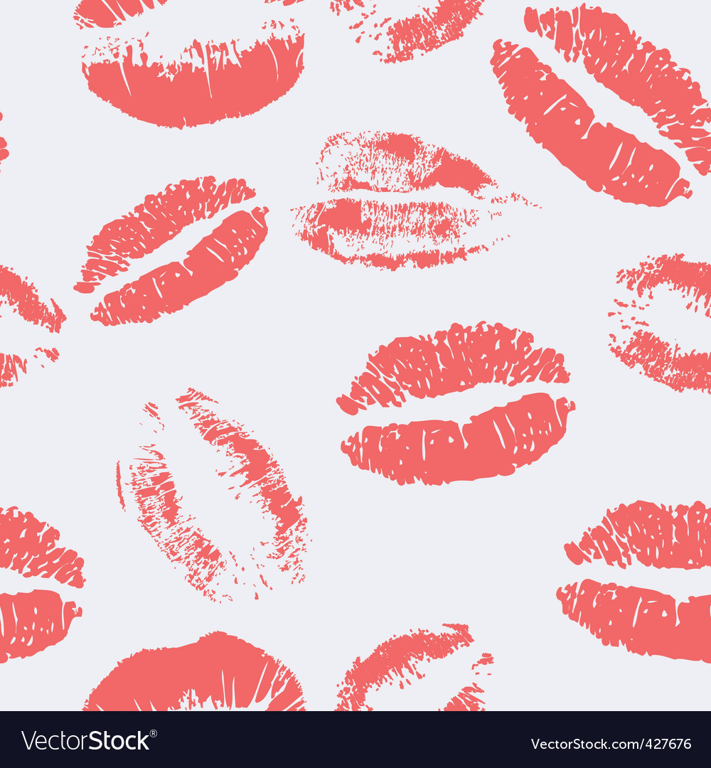 Kiss pattern vector