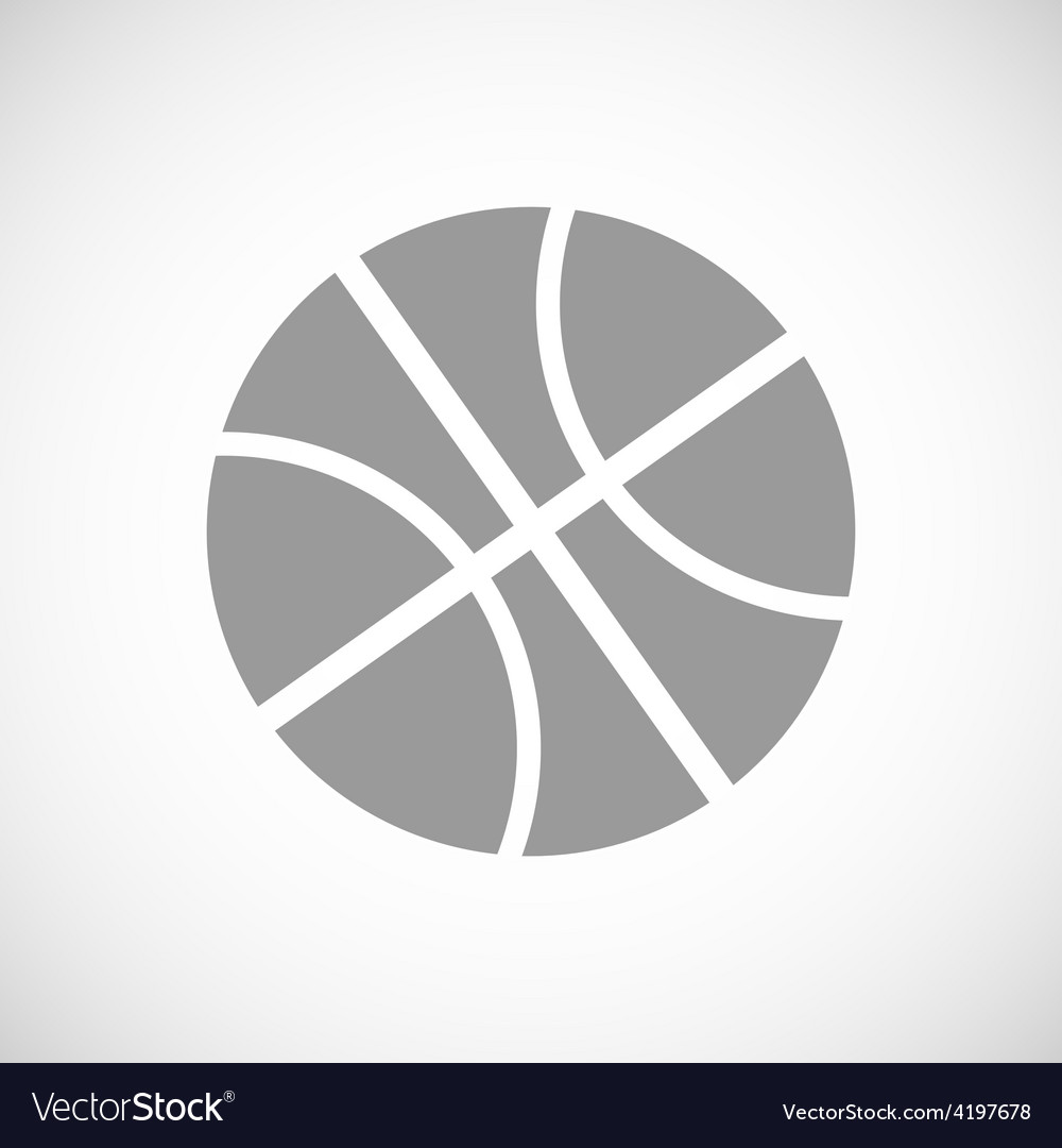 Basketball black icon vector