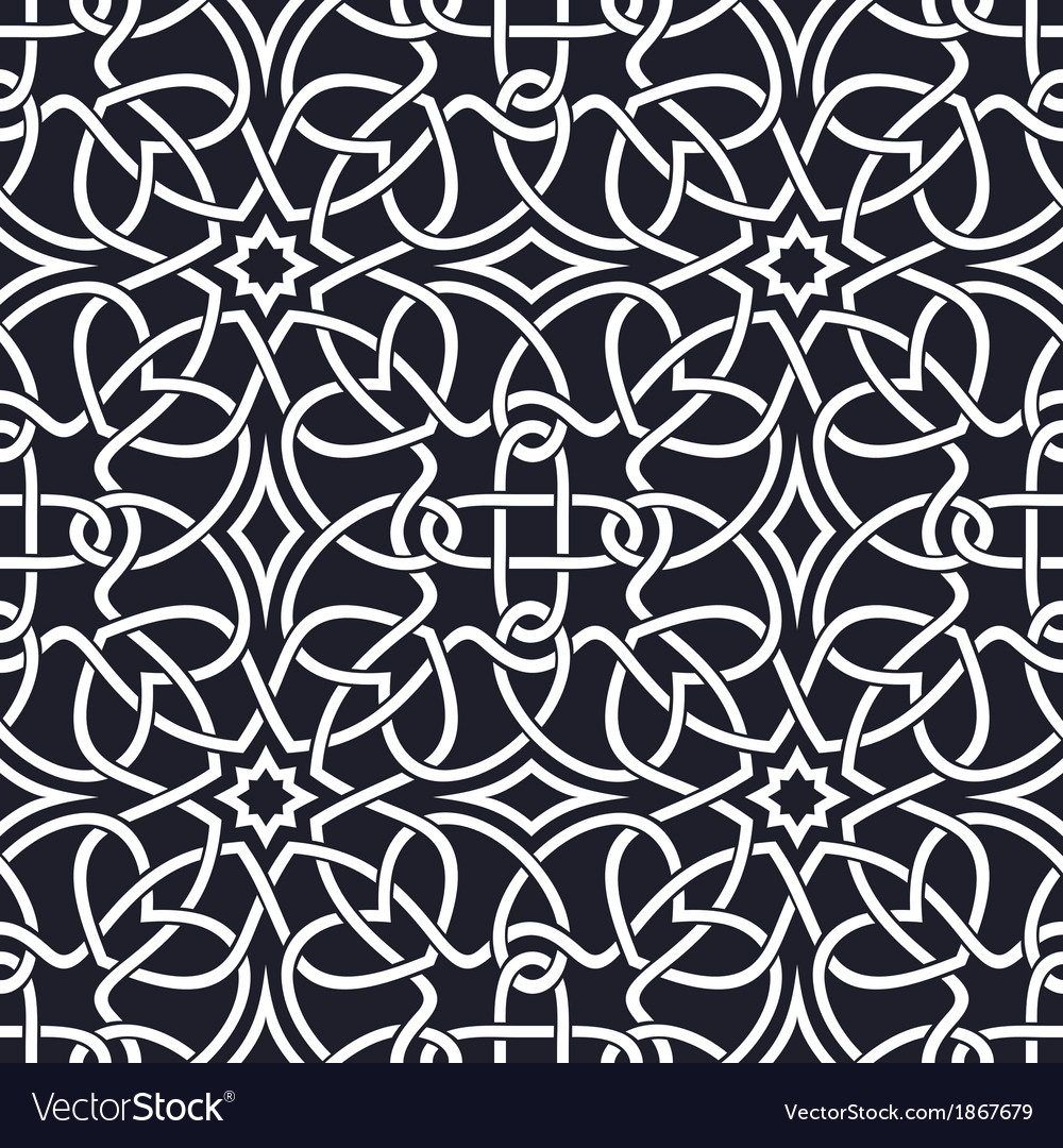 Seamless celtic patterns vector