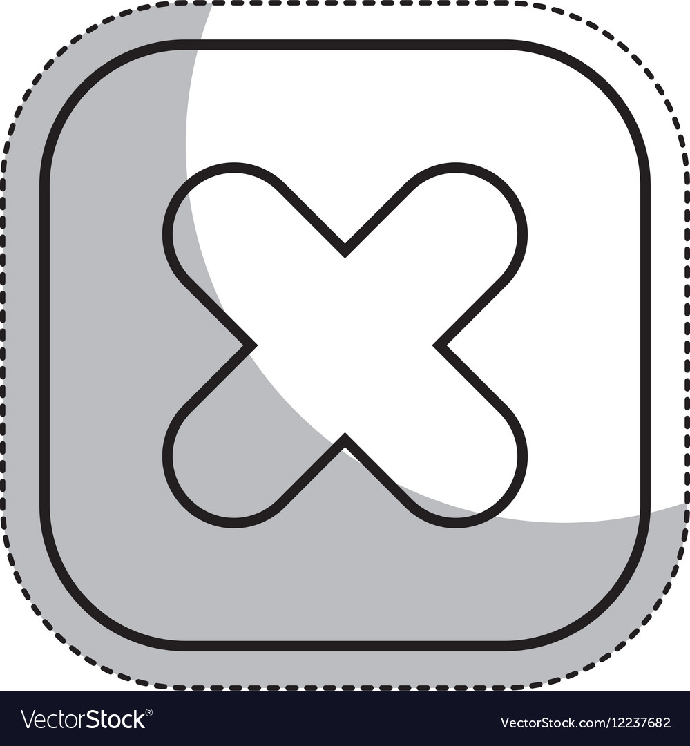 Multiplication button symbol isolated icon vector