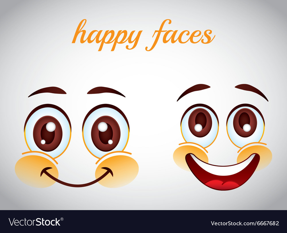 Smiley faces design vector