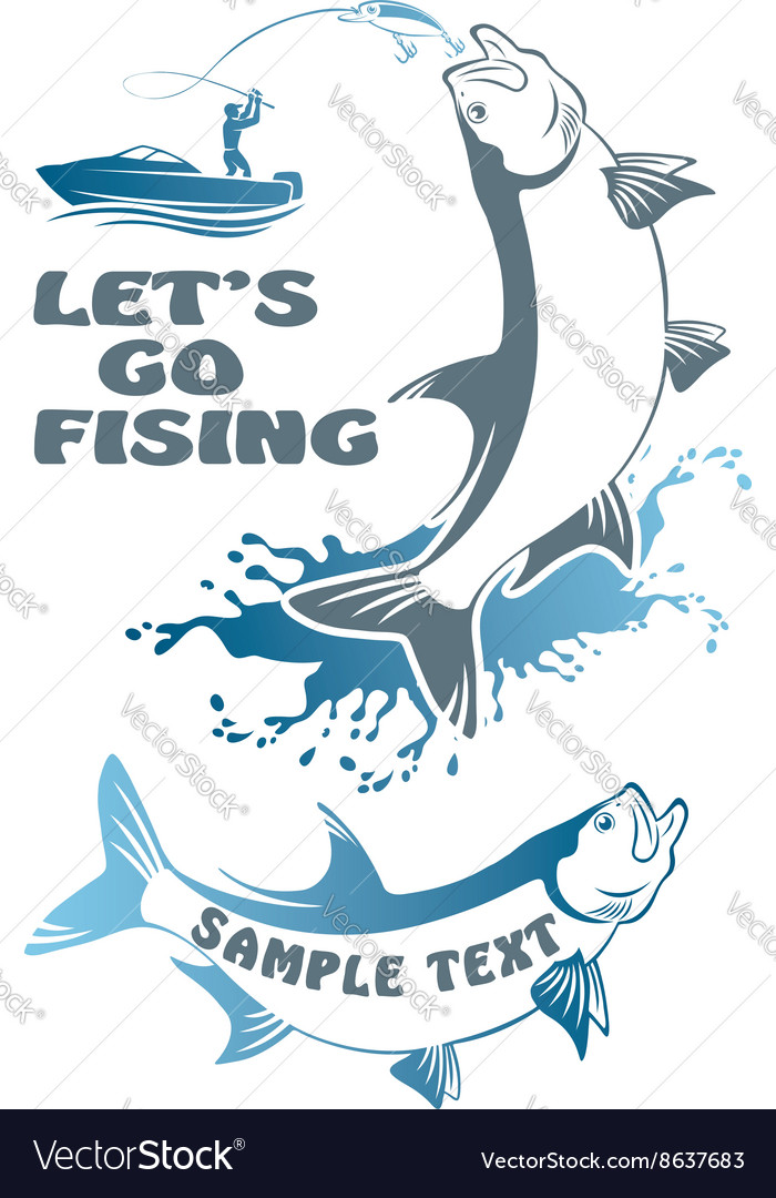 Fish tarpon vector