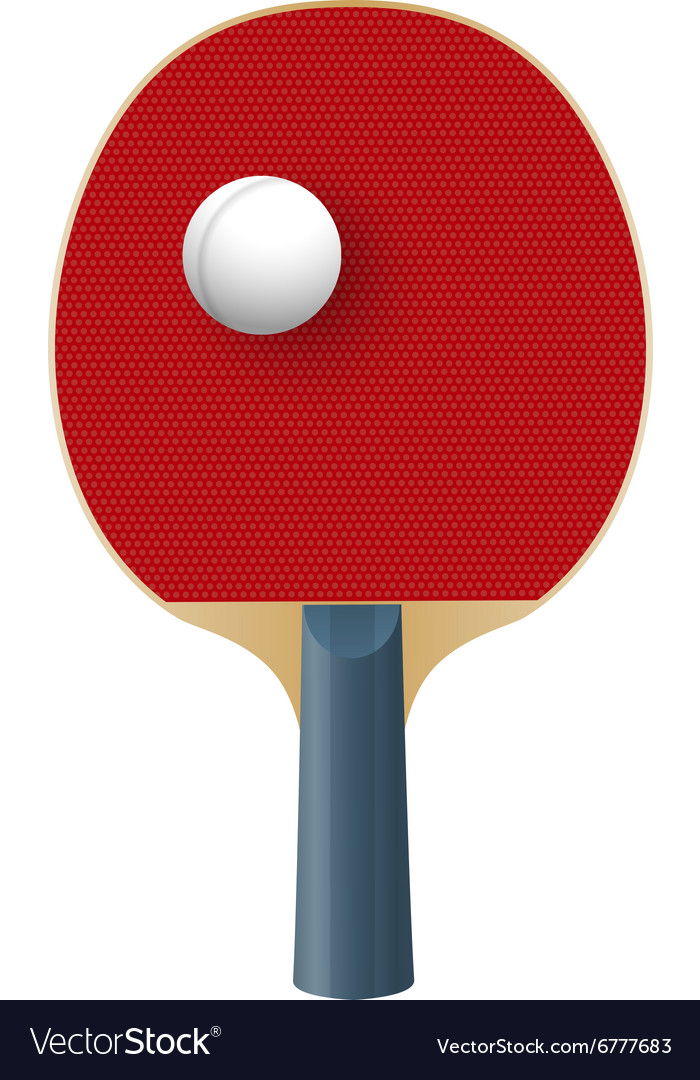 Racket for playing table tennis isolated on white vector