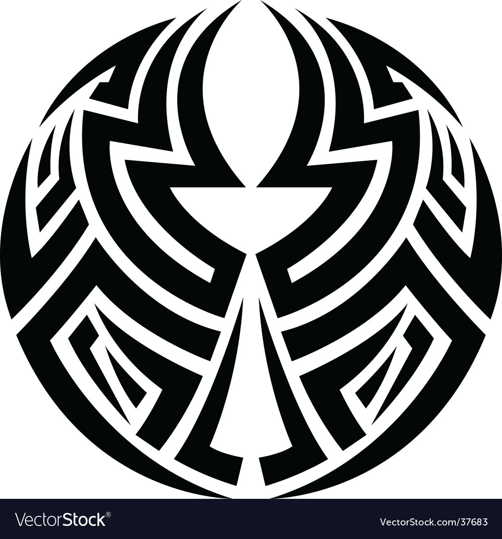 Tribal circle tattoo vector