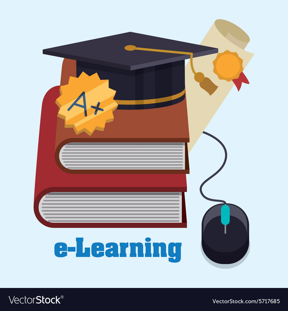 Education online vector