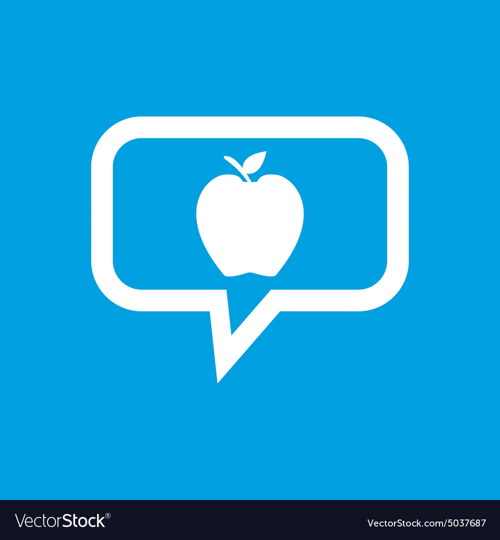 Apple message icon vector