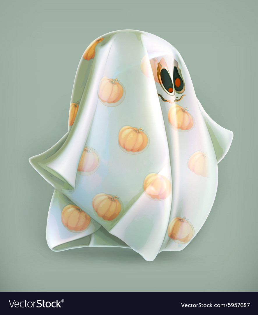 Cheerful ghost icon vector