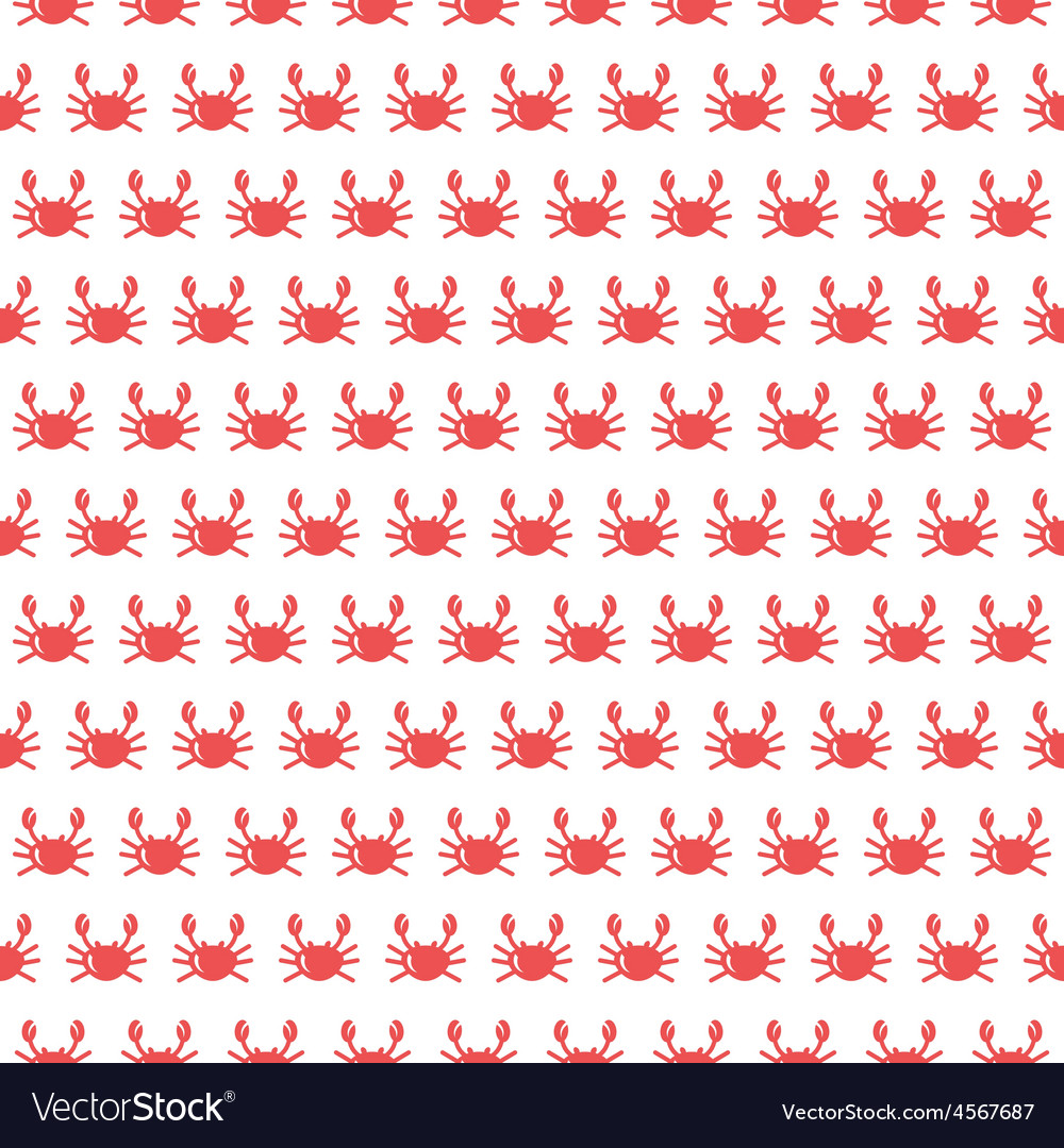 Crab seamless pattern vector