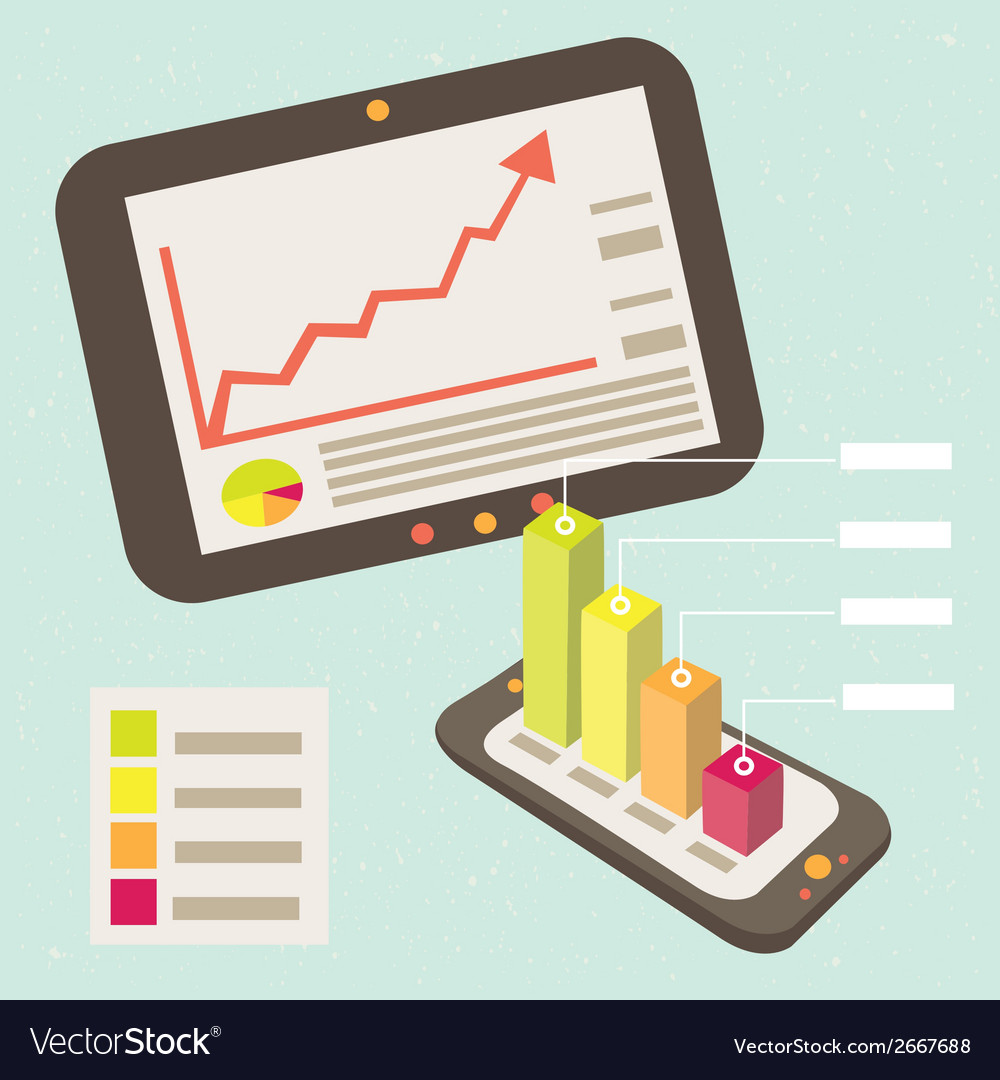 Business graphic notification smart phone vector